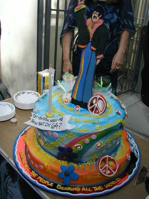 John Lennon S 64th Birthday Cake In Hollywood Ca Flickr