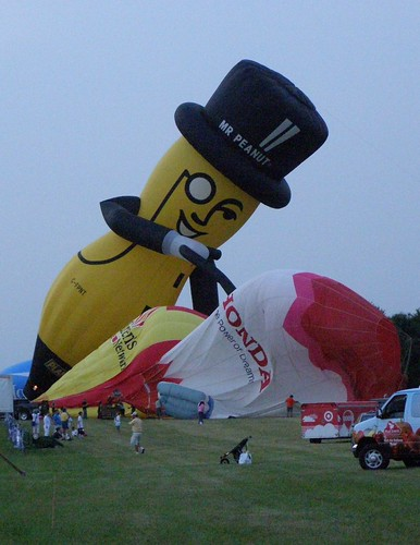 Mr Peanut balloon deflating balloons by excard1970