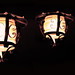 Chinese lanterns in the dark
