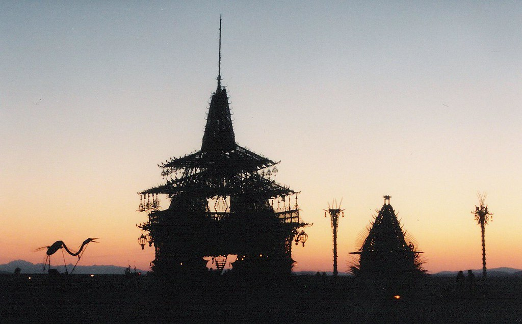 the temple at sunrise