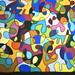 Meio Miró - Pintura em Seda - Silk Painting