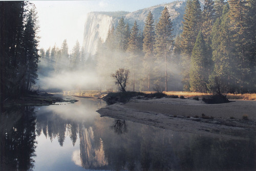 El Capitan, Merced River, and smoke