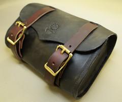black w tan strap bag 3 4