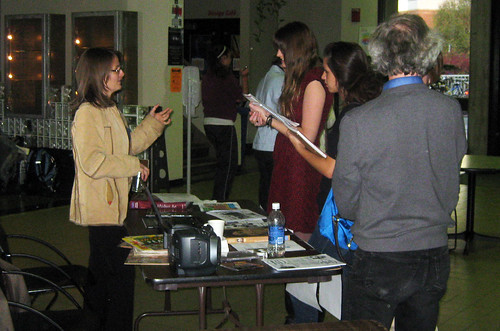 Program Night - Art and Design faculty talk with students interested in the program
