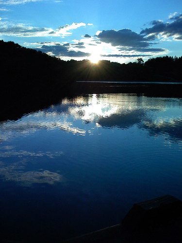 blue sunset reflection pennsylvania lakes twin pa greensburg twinlakes iphone skodak jeskodak