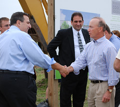 Handshake with Governor Mitch Daniels
