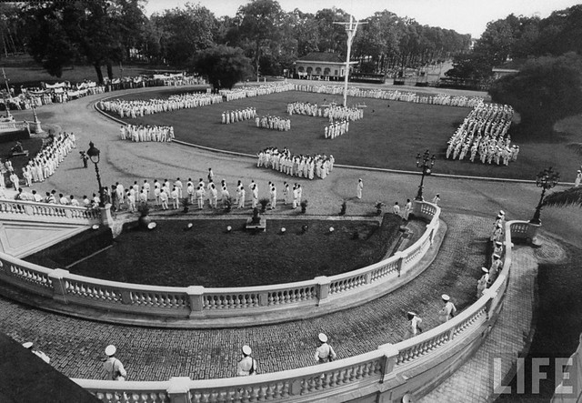 1956 Police parade at Independence Palace.