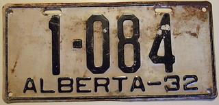 ALBERTA 1932 auto license plate