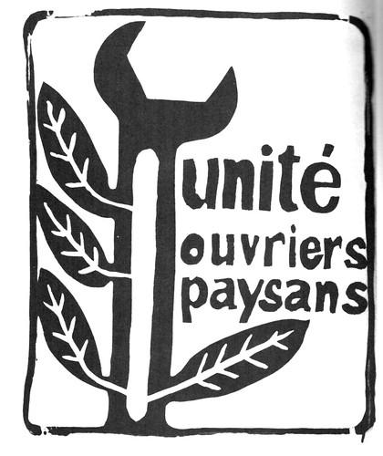 1968 mai Unité Ouvriers Paysans