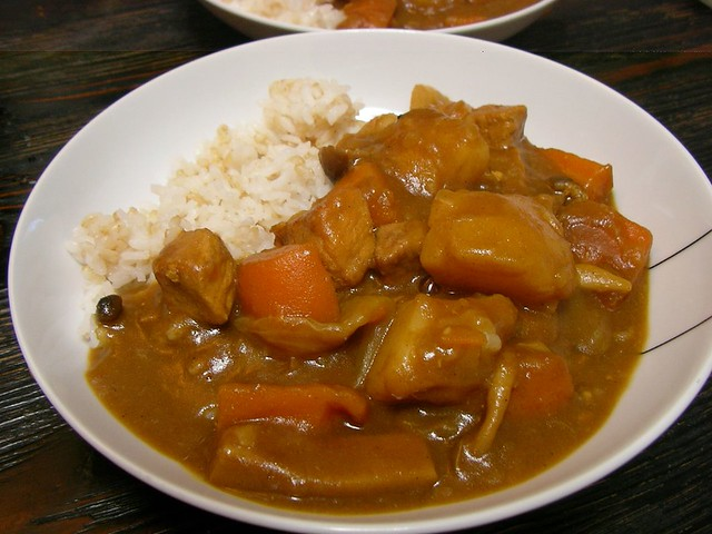 Homemade curry rice