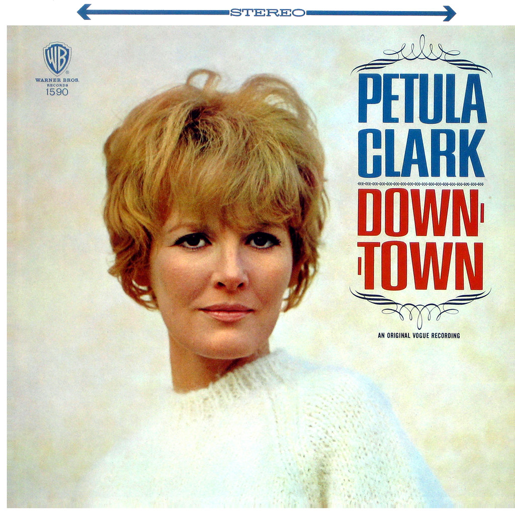 love is a four letter word album cover - petula clark lp cover art