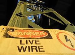 Danger: Live Wire Sign - Pelham Train Station