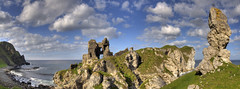 Kinbane Castle Panorama