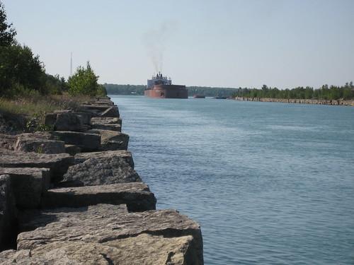 ship freighter rockcut