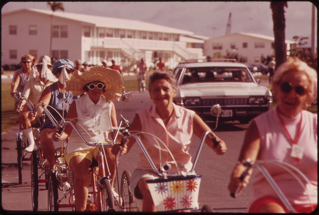 Tricycle Club of the Century Village Retirement Community Meets Each Morning.