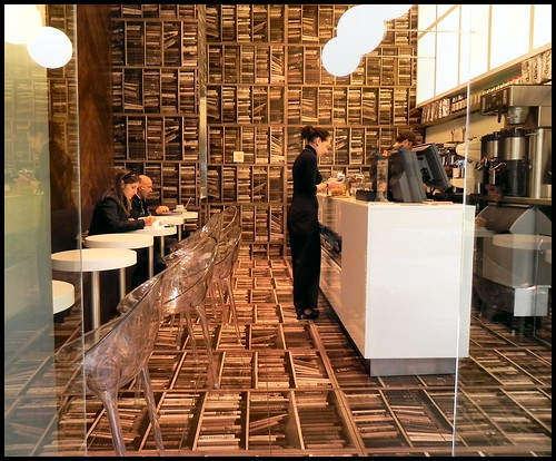 Espresso Bar with Book Decor