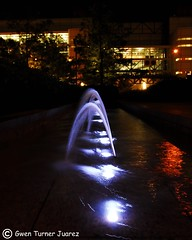 Fountain in Discovery Green