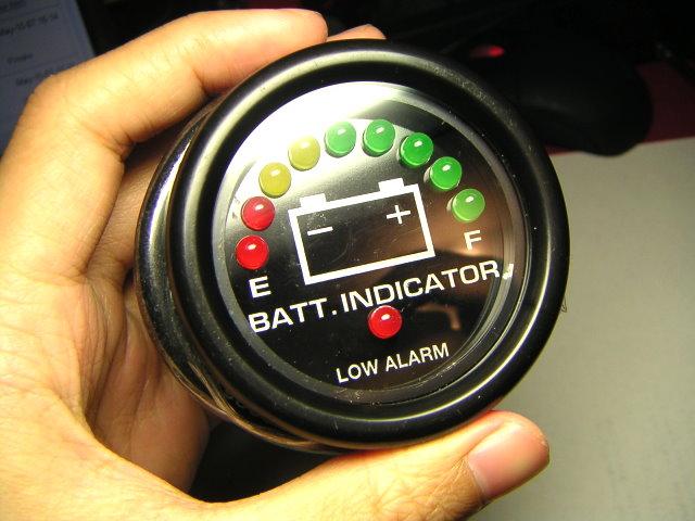 Battery Meter Sailboat : Waterproof v led battery meter gauge for boat boating ebay