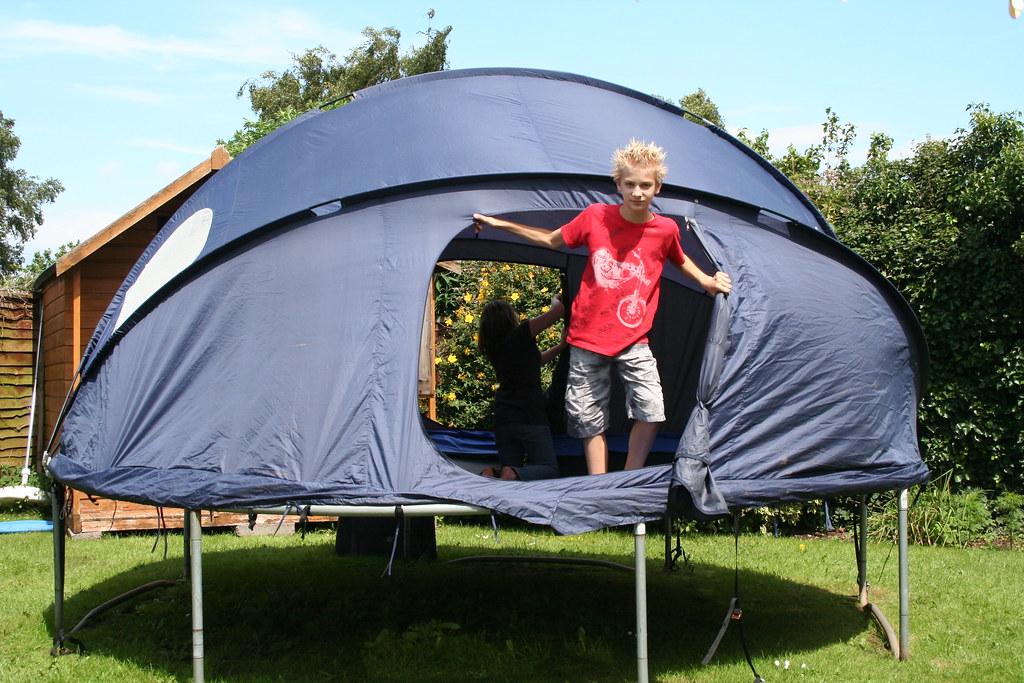 Trampoline Tent Erected
