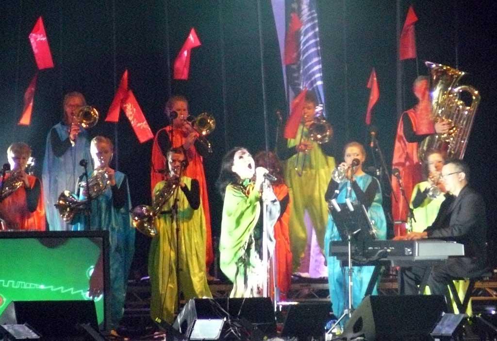 Björk en Bilbao, explanada del Guggenheim, 13 de Julio de 2007