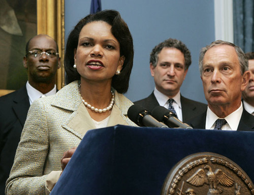 Condi Rice & Mike Bloomberg