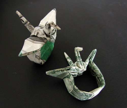 Dollar Ring - How to Fold a Money Origami Ring -=OrigamiTube.com