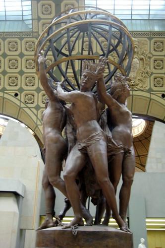 Paris - Musée d'Orsay: Jean Baptiste Carpeaux's Les Quatre Parties du monde soutnant la sphére céleste