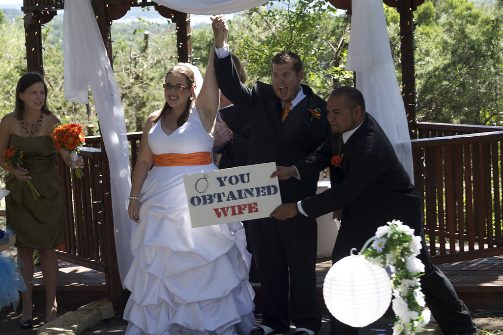 "Once she announced us Husband and Wife the Zelda Item sound played and Eric's Bestman held up a ""You obtained Wife"" Sign."