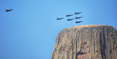 DevilsTower with the Blue Angels