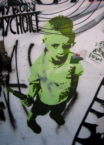 Sydney street art - green boy