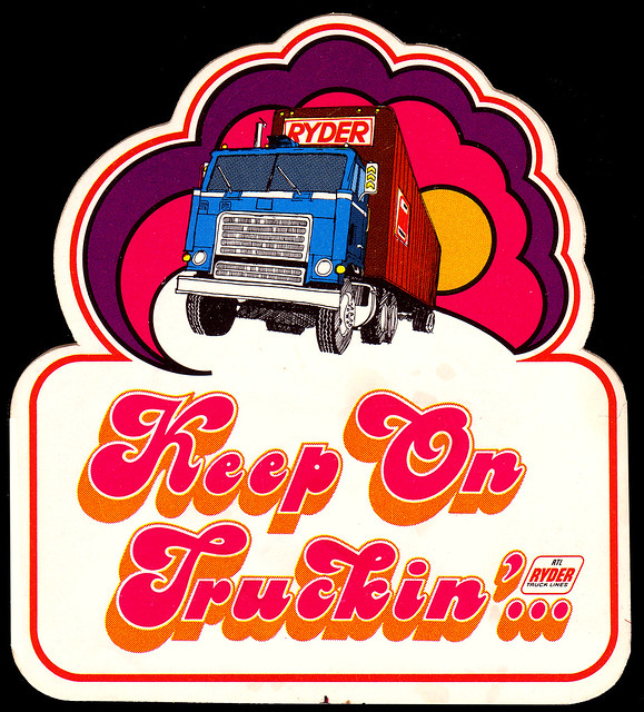 Ryder Trucks - Keep On Truckin Sticker - 1970's