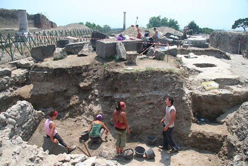 We're still excavating Pompeii from its volcanic tomb. About a quarter of the city remains buried: more victims doubtless lie within. Image courtesy Irene.