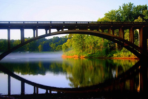 bridge usa reflection nature beauty natural awesome mo missouri ozarks forsyth themoulinrouge supershot taneycounty shadowrockpark bransonarea bansonarea ~m~chelle trilakesarea