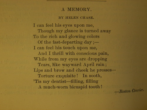 Books: Dental History: Poem: A Memory by Helen Chase