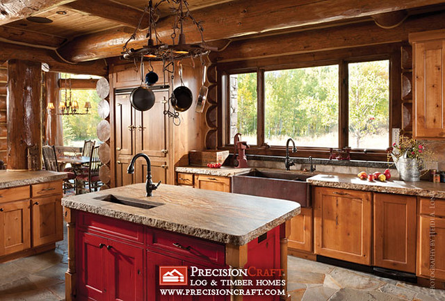 5143459684 3a06a3ab2b for Log home kitchens gallery