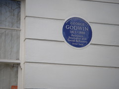 Photo of George Godwin blue plaque