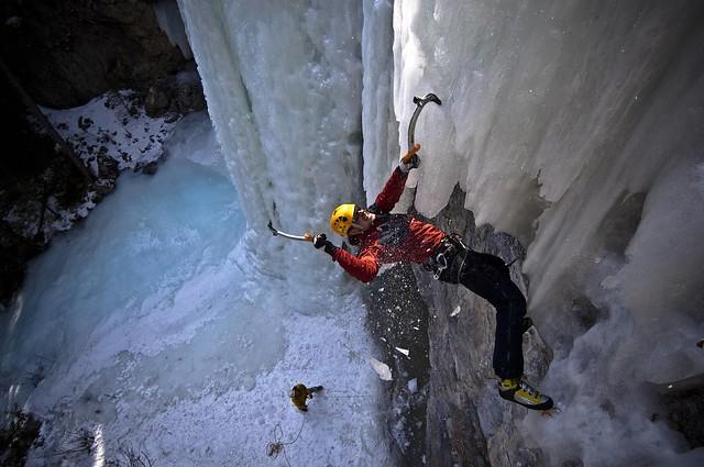 ice, climbing, extreme, sport