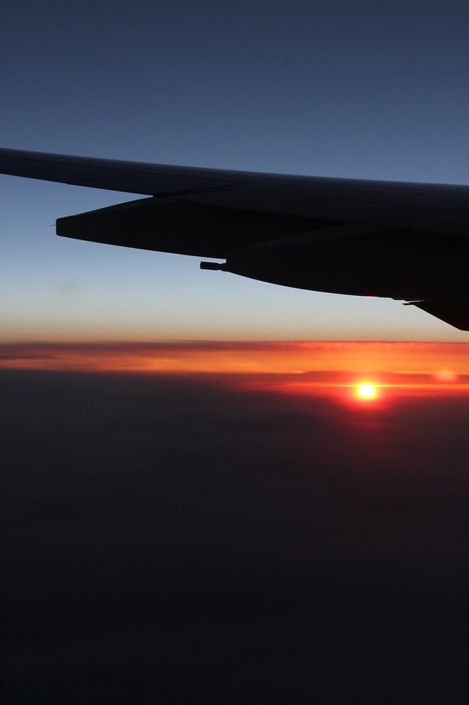 Sonnenaufgang irgendwo zwischen Sibirien und Japan