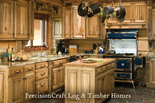 log home kitchen designs on Custom Design By Precisioncraft Log Homes   Kitchen View   Located In