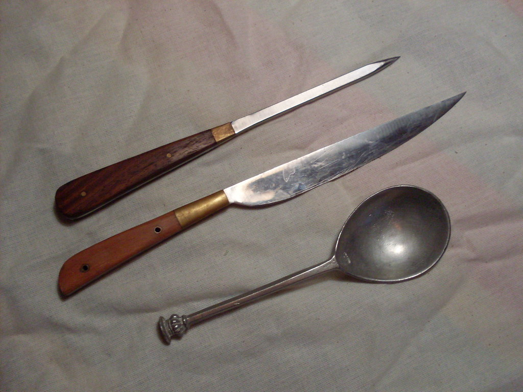 Knife Pricker and Spoon Set