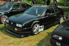 volkswagen golf mk2(0.0), race car(1.0), automobile(1.0), automotive exterior(1.0), vehicle(1.0), compact car(1.0), volkswagen corrado(1.0), bumper(1.0), sedan(1.0), land vehicle(1.0), coupã©(1.0), hatchback(1.0), sports car(1.0),