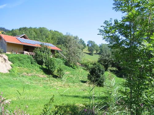 Solar Panel Farm House