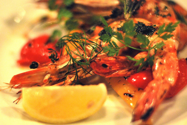 grilled prawn with herb / @belgo