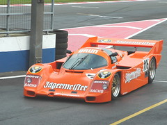 open-wheel car(0.0), race car(1.0), automobile(1.0), group c(1.0), vehicle(1.0), performance car(1.0), race(1.0), sports prototype(1.0), porsche 962(1.0), race track(1.0), land vehicle(1.0), supercar(1.0), sports car(1.0),