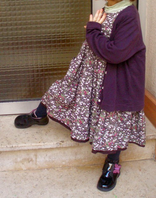 Handmade child's dress in Liberty Tana Lawn