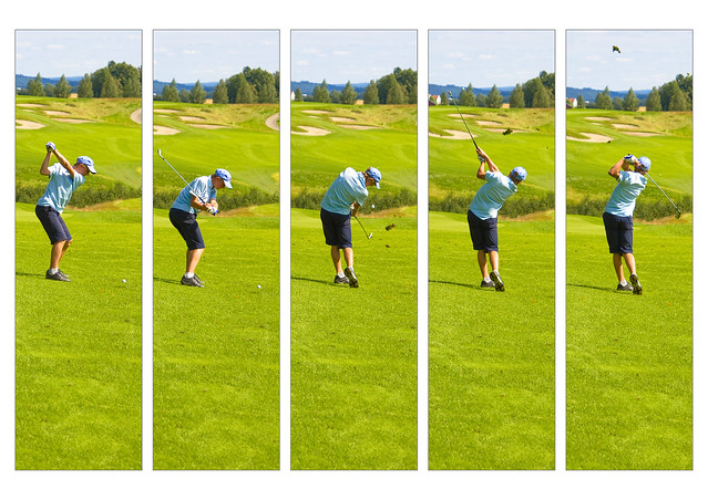 Golf swing as it should be excecuted