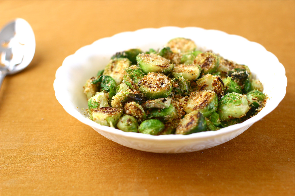 Brussels Sprouts with Toasted Breadcrumbs, Parmesan and Lemon Zest