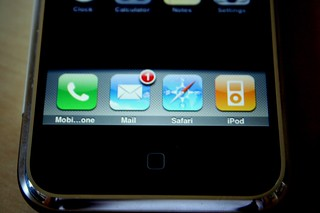 iPhone: The Home Screen, the Tantalizing Empty Row, and the Four Major Applications