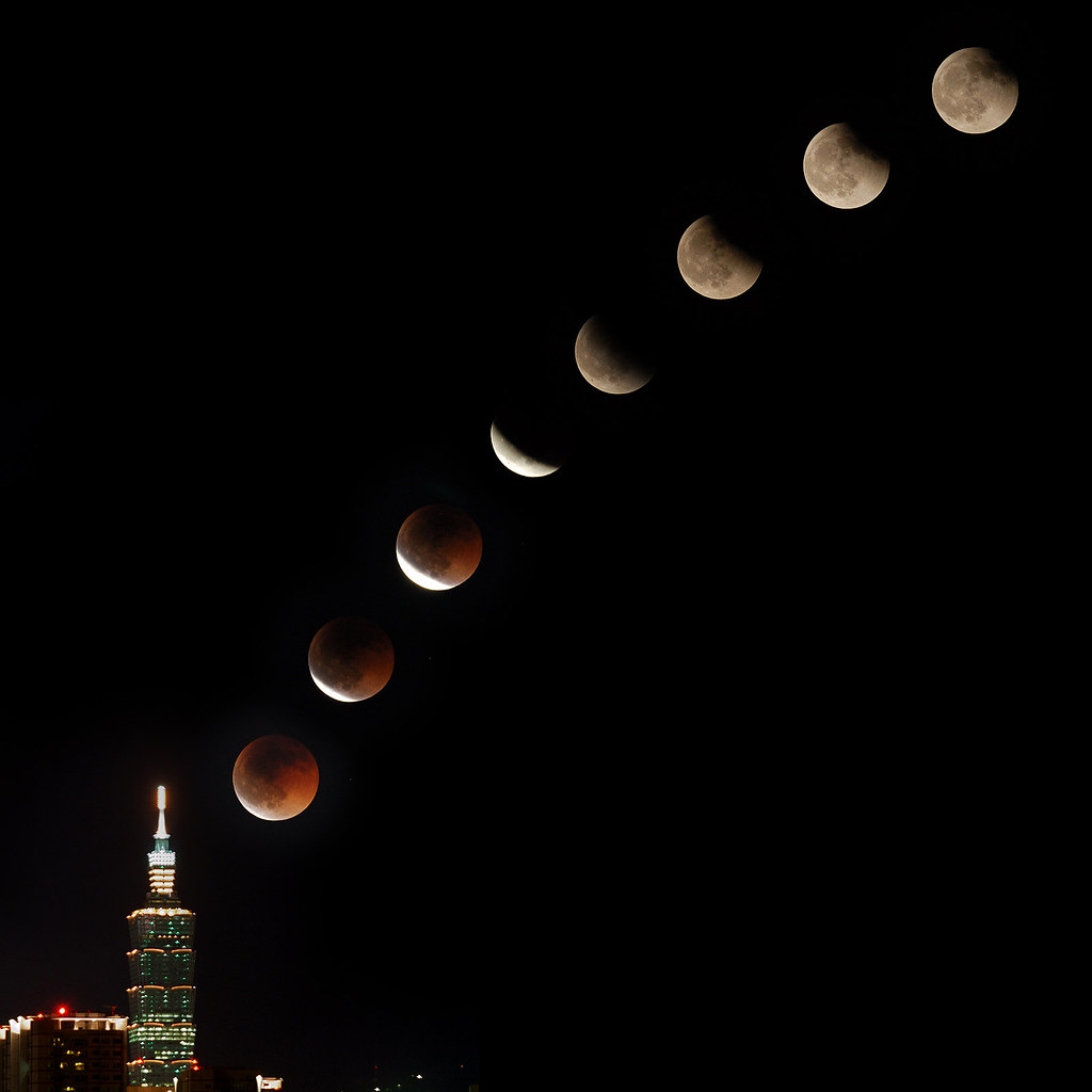 Lunar Eclipse (from Taipei) by fjny