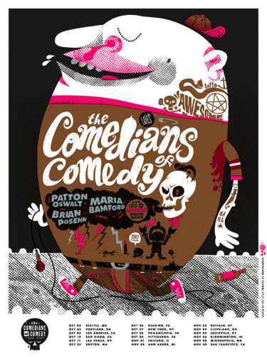 Comedians of Comedy tour poster
